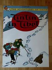 Tim und Struppi  Tintin en Tibet  Druck  86,5 x 63,5 cm