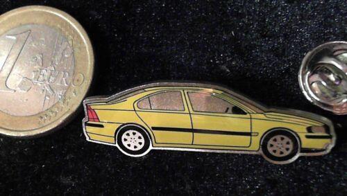 Volvo Pin Badge Car Auto gelb Seitenansicht vermutlich S60
