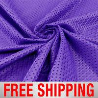 Football Basketball Jersey Mesh Fabric Sports Purple 60 Wide. Free Shipping