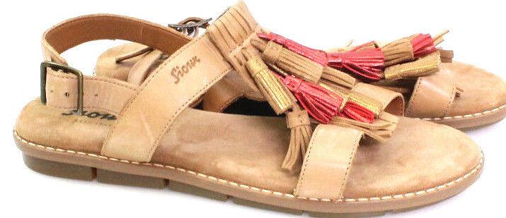 Sioux Damen Schuhe Gr.39 Modell Enisa Sommer RömerSandaleeen Leder Beige Neu