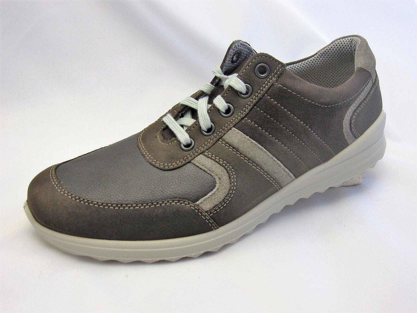 Jomos Herrenschuhe, braun  Leder, Weite H, herausnehmbares Fußbett