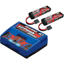 Traxxas 2990 ID Charger w/ 2 11.1V 5000mAh LIPO Battery combo pack TRA2990 HH