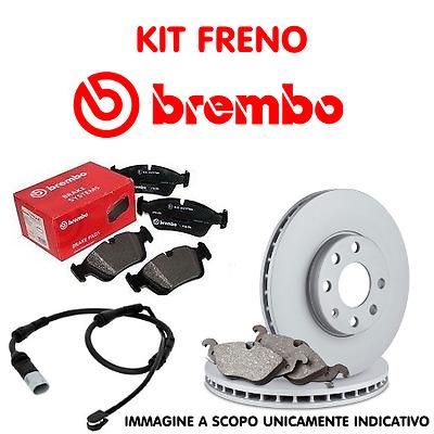 KIT DISCHI E PASTIGLIE FRENO ANTERIORE BREMBO BMW 320d E46