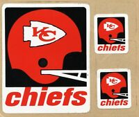 KANSAS CITY CHIEFS VINTAGE RARE TEAM ISSUED STICKER / DECAL VINTAGE 1973