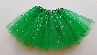 Girls Green ballet sparkle tutu skirt girls age 3 4 5 6 7 8 Frog Alien costume