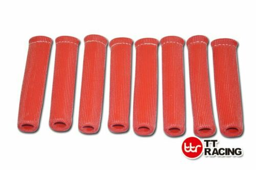 """X8 6/"""" HIGH HEAT SHIELD BLUE ENGINE SPARK PLUG WIRE BOOT PROTECTOR SLEEVE COVER"""
