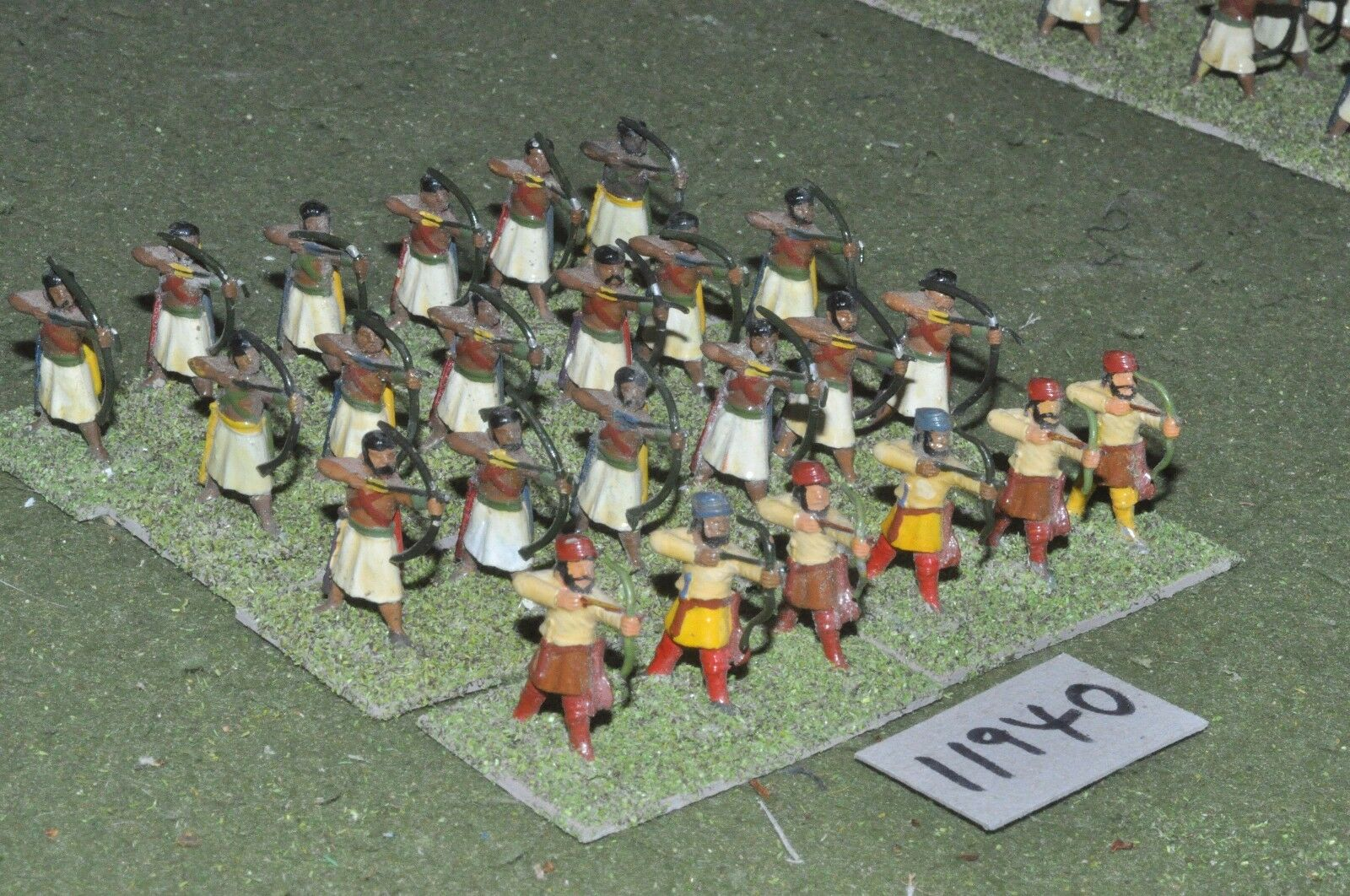 25mm classical   indian - ancient & allied archers 24 figs - inf (11940)