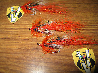 3 V Fly Size 14 Low Water Ally/'s Cascade Shrimp Double Salmon Flies