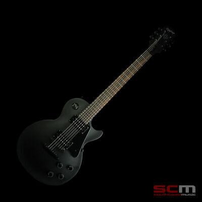 epiphone les paul studio gothic pitch black electric guitar enl1pbbh1 goth new ebay. Black Bedroom Furniture Sets. Home Design Ideas