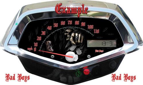 Honda Fury Custom Speedometer Reaper MPH or HM//H