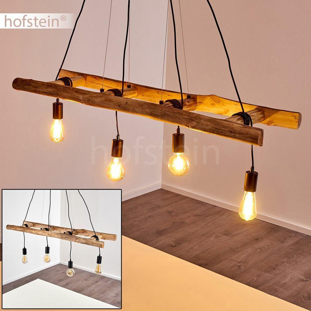 Vintage Pendel Hänge Lampe Leuchte Holz Wohn Schlaf Ess Zimmer Raum Beleuchtung