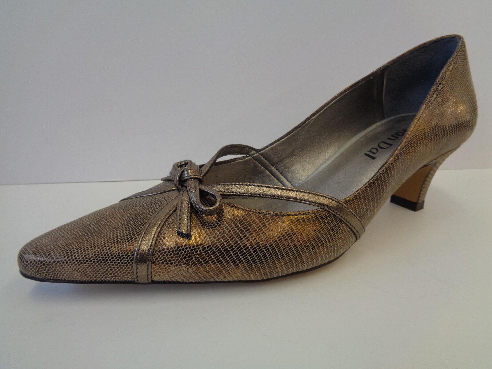 donna -multi Bronze Liz   Hartzinn erf 65533;llt  Slipper Leder mit Abseaz Van Dal  grandi offerte