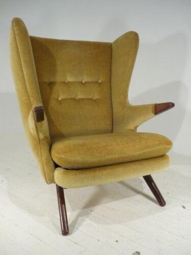 RARE 50's Danish Modern Svend Skipper Papa Bear/Egg Style Wingback Lounge Chair