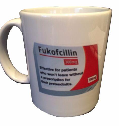 """FREE SHIPPING! /""""Fukofcillin..Effective for patients ./"""" funny nurse Coffee Mug.."""