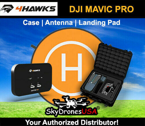 4Hawks   Raptor  SR Antenna   Case   Leing Pad for DJI Mavic Pro  liquidazione fino al 70%