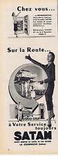 PUBLICITE ADVERTISING 084 1956 SATAM toujours à votre service sur la route
