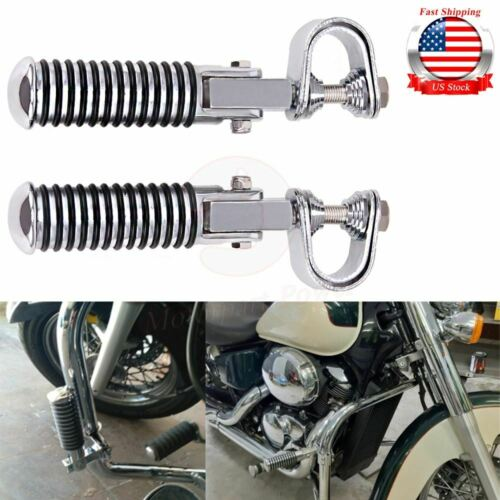 "Motorcycle Foot Pegs Rests 1/""~1-1//4/"" Highway Engine Crash Bar For Harley Honda"