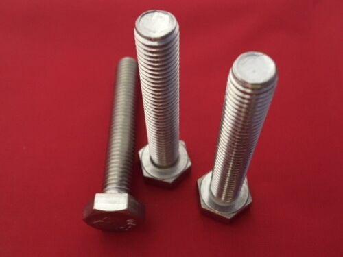 Stainless Steel Hex Head Bolts Screws A2-304 Fully Threaded Setscrews M10 M12