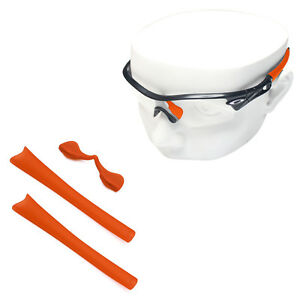 04397d7268 Details about Orange Silicone Kit Replacement Ear Socks   Nose Piece for-Oakley  Radar Path