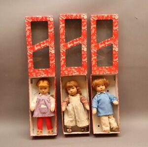 3 x KÄTHE KRUSE Puppen Sammlerpuppen Jocherle Jettchen Fritzi mit Etikett + OVP