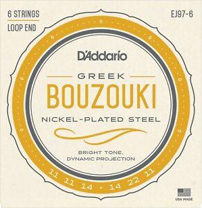 Ej97-6 D'addario 6 String Greek Bouzouki Cordes Nickel Acier Plaqué-afficher Le Titre D'origine