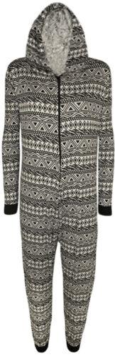 Ladies Womens Aztec,SKUL Black /&White Hooded Print Long  Jumpsuit