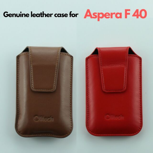 GENUINE LEATHER CASE WITH LANYARD AND BELT LOOP FOR ASPERA F40 FLIP PHONE