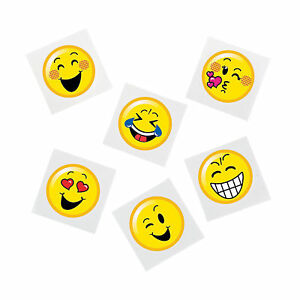 Details about EMOJI PARTY Temporary Tattoos Smiley Face Tattoo Favours Pack  of 36 Free Postage
