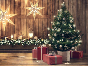 Image Is Loading Christmas Tree Light Garland Photography Backdrop Photo Background