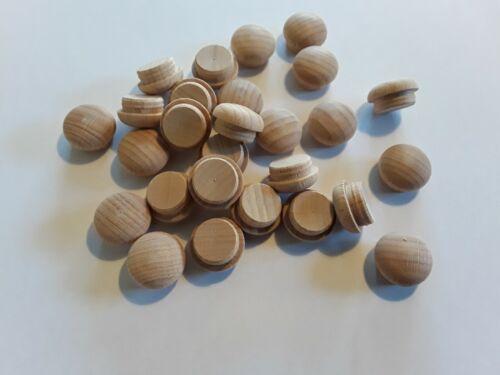 Pilzkappen Abdeckkappen Zierkappen Buche 10 Stück 15 mm Bohrloch roh