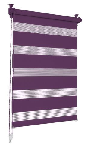 Double Roller Blind Purple 60 x 150cm Klemmfix without drilling Side Pull Roller Blind Clamp Roller Blind WOW