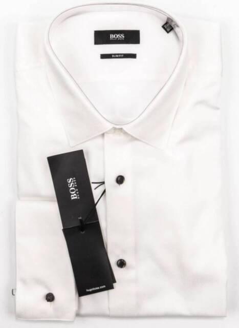 43000592 Hugo Boss Men's White Tuxedo Dress Shirt; 'Myron' OR 'Jasper' Choose ...