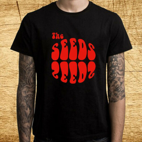 New The Seeds American Rock Band Logo Men/'s Black T-Shirt Size S-3XL