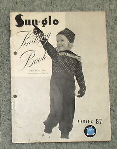 Vintage-Sun-Glo-Knitting-Book-Childrens-Clothes