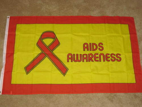 3X5 AIDS AWARENESS FLAG RED RIBBON NEW BANNER HIV F022
