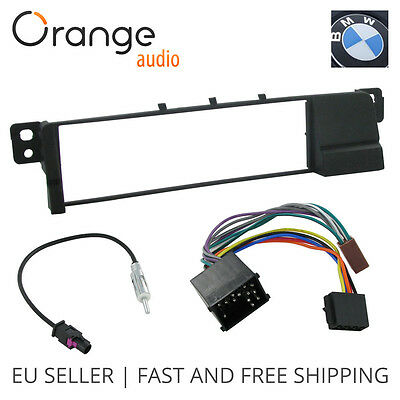 Radioblende 1 DIN BMW 3 E46 und Antenneadapter DIN /> 2002 Fakra /& ISO Adapter