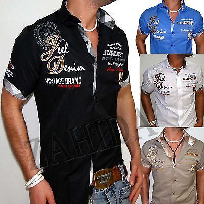 Jeel Jeans Men's Shirt T-Shirt Clubwear Design Polo Club Short Sleeve S-XXL NEW