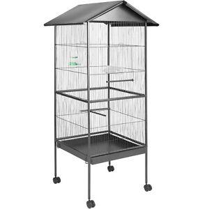 Voliire Cage À Oiseaux Canaries Perruches Perroquets Métal