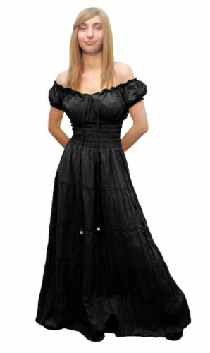 RENAISSANCE DRESS MEDIEVAL COTTON COSTUME PIRATE PEASANT WENCH VICTORIAN CHEMISE