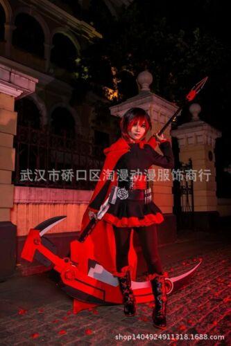 New RWBY Red Trailer Ruby Rose Lolita Female Cosplay Kimono Dress
