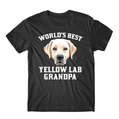 World/'s Best Yellow Lab Grandpa Dog Graphic T-Shirt