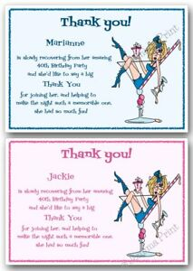 Personalised Thank you cards Birthday Party 18th 21st 30th ...