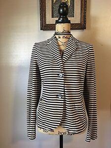 Kvalitet Stilfuld Stripes Karriere Sz Store Jacket Beige Sort Talbots Casual Arbejds qpHBvzxnw