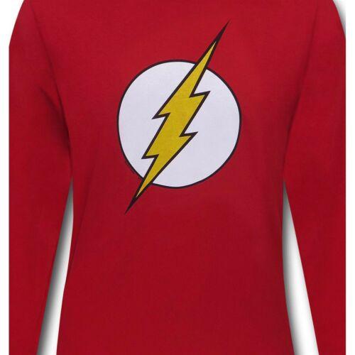 Flash Symbole T-shirt à manches longues rouge