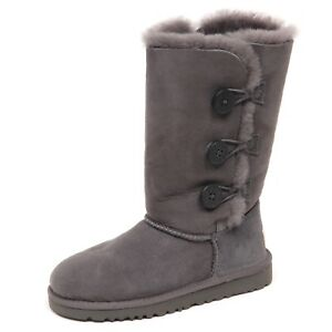 UGG® Girls' Bailey Button Triplet II Boots (Youth) | Dillard's
