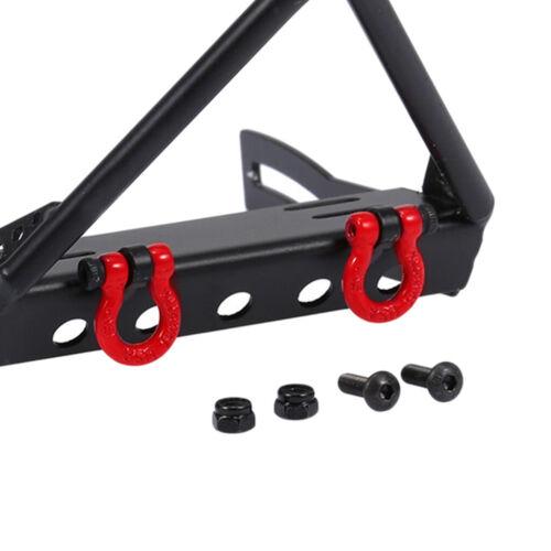 Schwarz Metall Front-Bumper Frontstoßstange Kit für 1//10 RC Crawler Car