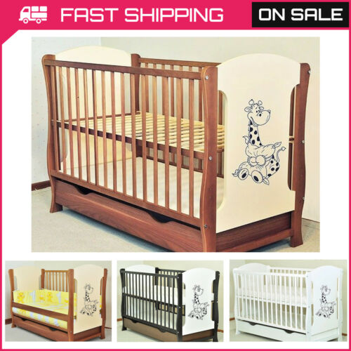 NEW BABY COT WITH DRAWER//JUNIOR BED//SELECTION OF MATTRESS FREE DELIVERY 3 COLOUR