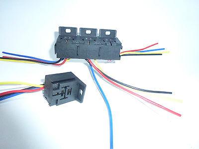Posten 100 Stück   4-5 Pin Relaishalter Relaissockel zum Schrauben mit Kabel