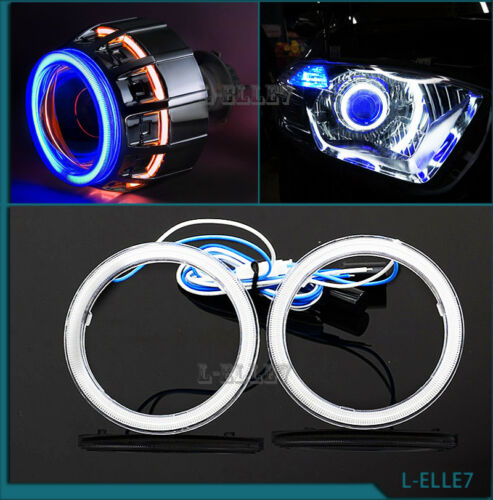 60MM White Car Angel Eye Ring Halo Light Auto COB DRL Motor Headlight Waterproof