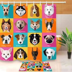 Image Is Loading Pet Dog Animal Print Shower Curtain Waterproof Fabric